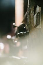 Latch Of Gate At Night