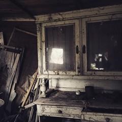 Fototapeta na wymiar Wooden Cupboard In Abandoned House