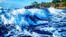 Scenic View Of Waves