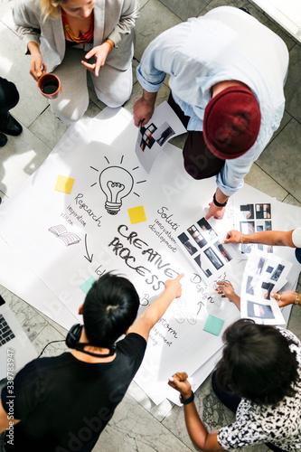 Startup business team brainstorming
