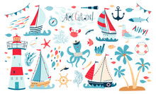 Cute Sea Collection With Sailb...