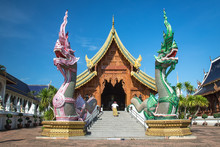 Temple In Thailand,Ban Den Temple In Chiang Mai Tourist Attractions Of Thai Architecture.