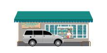 Drive Thru Pharmacy With Custo...