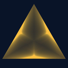 Golden Color Triangle Form Wit...