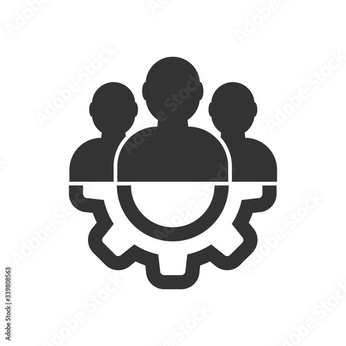 Fototapety, obrazy: Vector icon for management and guidance. Teamwork and partnership. Template for the site and app. isolated on a white background
