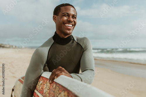 Smiling male surfer Canvas Print