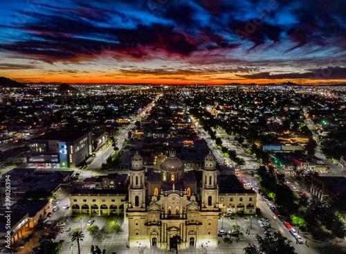 Catedral de Hermosillo sonora de noche Canvas Print