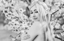 Elf Woman In Garden, Cosplay, ...