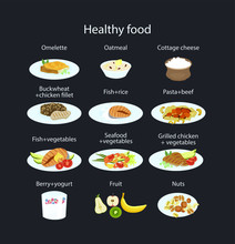 Set Of Healthy Food For Breakf...