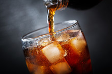 Soft Drink, Pouring Cola Into ...