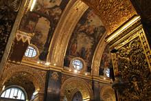 Baroque St John Cathedral In Valletta In Malta