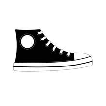 CLASSIC CHUCKS All Star Sneaker Illustration Vector