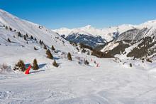 View Of A Ski Slope In Alpine ...