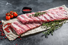 Fresh Raw Lamb Spare Ribs With...