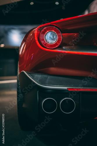 sports car headlight Fototapeta