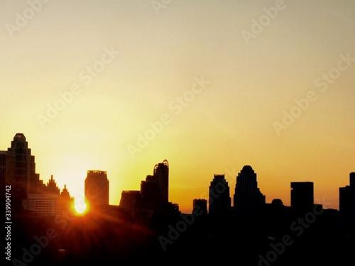 Fototapety, obrazy: Sunset Over City