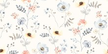 Flower Seamless Pattern With A...