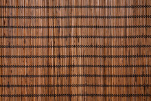 Texture Of Are Brown Color Bamboo Table Mat