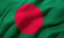 Flag Of Bangladesh Blowing In ...