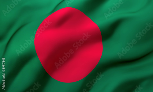 Flag of Bangladesh blowing in the wind Fototapete