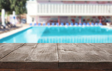 Wooden Deck Near Swimming Pool...