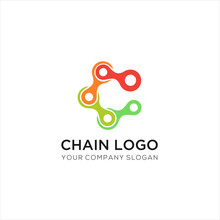 Chain Vector Colorful Isolated...