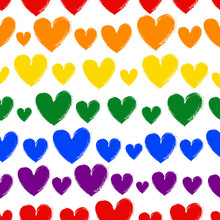 Seamless Pattern Of Hearts Of ...