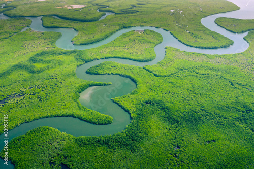 Aerial view of Amazon rainforest in Brazil, South America Canvas Print