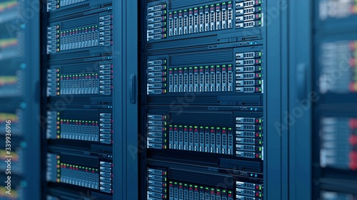Canvastavla data center server racks