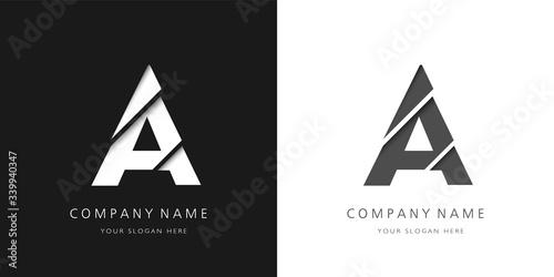 a letter modern logo broken design Fototapet
