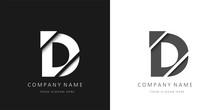 D Letter Modern Logo Broken Design