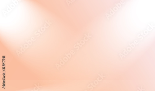 Obraz na plátně abstract blur of pastel beautiful peach pink color sky warm tone background for