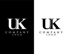 UK, KU Modern Letter Logo Desi...