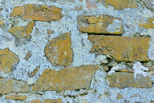 Detail Of An Old Stone Wall Wi...