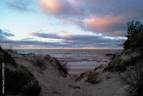 Fotografie, Obraz Zachód słońca nad Morzem Bałtyckim