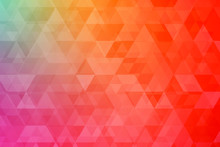 Abstract Blurred Gradient Mesh Background In Bright Colorful Smooth.soft Colored Background With Triangular Polygons. Low Poly. Suitable For Wallpaper, Banner, Background, Card. Vector Illustration