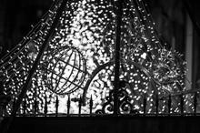 Gate Against Illuminated Lighting Decoration