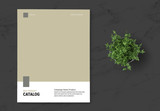 Product Catalog Layout with Brown Accent - 339992199