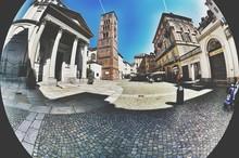 Street By Historic Buildings At Piazza Della Repubblica