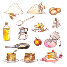 Set Of Drawings Of Products Fo...