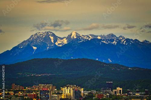 Widok na góry z Lublany