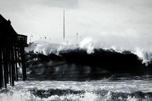 Giant Waves In Sea