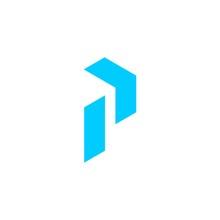 Initial Letter P Arrow Logo Te...