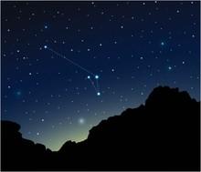 Constellation Apus In Deep Space