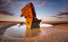 An Old Shipwreck Boat Abandone...