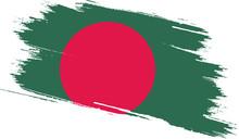 Bangladesh Flag With Grunge Texture