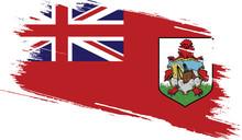 Bermuda Flag With Grunge Texture