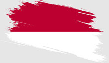 Indonesia Flag With Grunge Texture