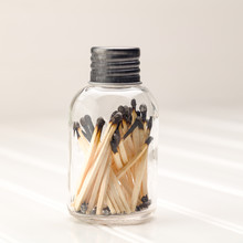 Jar With Burnt Matches