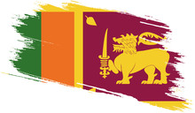 Sri Lanka Flag With Grunge Tex...